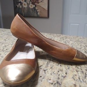 Louise et Cie gold toe leather Flats